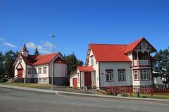 Akureyri. Sunny day on a street of Akureyri Royalty Free Stock Image