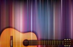 Akustikgitarre auf buntem Hintergrund Stockfotografie
