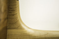 Akustikgitarre-Basis des Halses Stockfoto