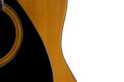 Akustikgitarre getrennt Lizenzfreie Stockfotos