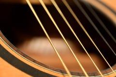 Akustikgitarre-stichhaltiges Loch Stockfotografie