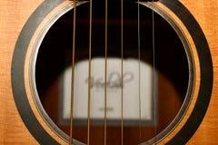 Akustikgitarre-stichhaltiges Loch Stockbilder