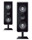 Akustische Sprecher mit drei Sprechern Lizenzfreies Stockbild