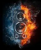 Akustischer Lautsprecher Stockfoto
