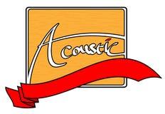 Akustisches Logo Stockfoto