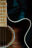 akustisk gitarr Fotografering för Bildbyråer
