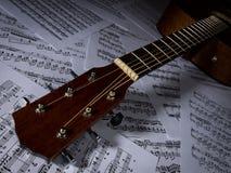 akustisk gitarr royaltyfria foton