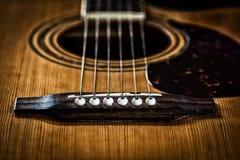 akustisk gitarr Arkivbilder