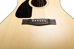 akustisk gitarr Arkivbild