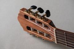 Akustisk gitarr för Headstock arkivfoton