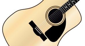 Akustisk gitarr för lönn Arkivbilder