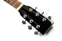 akustisk gitarrheadstock Royaltyfri Fotografi