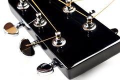 akustisk gitarrheadstock Arkivfoto