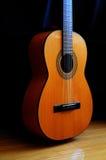 akustisk klassisk gitarr Arkivfoto
