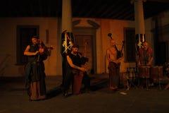 Akustisk konsert av den barbar- rörmusikbandet Royaltyfria Bilder