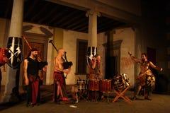 Akustisk konsert av den barbar- rörmusikbandet Royaltyfri Fotografi