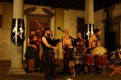 Akustisk konsert av den barbar- rörmusikbandet Royaltyfria Foton
