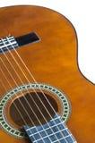 akustisk tät gitarr upp royaltyfri bild