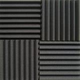 Akustiska tegelplattor för studio arkivbild