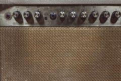 akustiska vänte för rad för gitarrhuvudmusiker sex Arkivbild