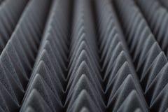 Akustiskt absorberande skum för studioinspelning Pyramidform Fotografering för Bildbyråer