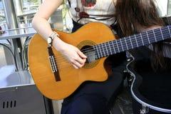 akustiskt gitar Arkivfoto