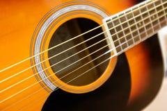 Akustyczna Drewniana gitara Fotografia Royalty Free