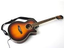 akustyczna gitara elektryczna Zdjęcia Stock