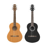 Akustyczna Klasyczna gitara jest Brown i czerni kolorem royalty ilustracja