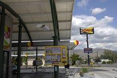 AKUSTYCZNY fasta food łańcuch Zdjęcia Stock