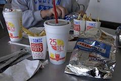 AKUSTYCZNY fasta food łańcuch Zdjęcia Royalty Free