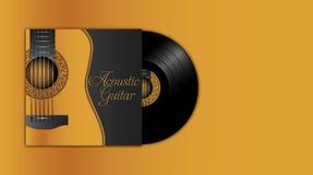 Akustyczny gitar albumowy plack ilustracji