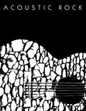 Akustyczny muzyki rockowej tło royalty ilustracja