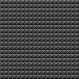 Akustyczny piankowej gumy ściany wzór, Ciemny bezszwowy tło z ostrosłupem i trójbok tekstura dla rozsądnego pracownianego nagrani royalty ilustracja