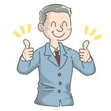 Gesture of businessman - Good royalty free illustration