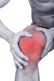 Akut smärta i knä Arkivbilder