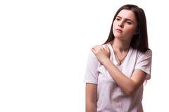 Akute Schmerz in einem Frauenwinkelstück lizenzfreie stockfotografie