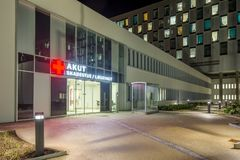 Akutmottagning på det Kolding sjukhuset Royaltyfri Bild