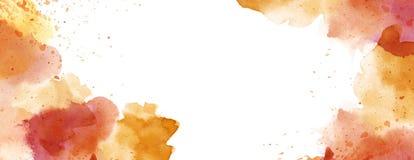 Akvarell med utrymme för kopia för färgstänkfläckbakgrund vitt stock illustrationer