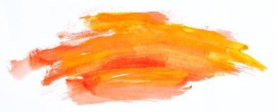 Akvarellmålarfärgslaglängder Arkivfoton