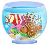 Akvariumämnebild 2 stock illustrationer