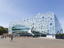 Akvarium Moskvarium på ENEA i Moskva Royaltyfri Fotografi