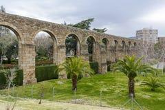 Akvedukt av San Anton i Plasencia, landskap av Caceres Arkivfoton