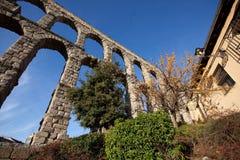 Akvedukt av Segovia Royaltyfri Fotografi