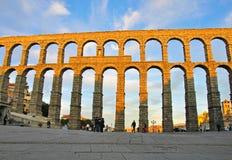 Akvedukt av Segovia Royaltyfri Bild