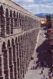 Akvedukt av Segovia, roman historisk uppsättning royaltyfri bild
