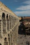 Akvedukt av Segovia Spanien Royaltyfri Foto