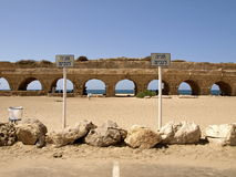 Akvedukt i Cesarea Arkivfoto