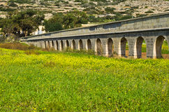 Akvedukt Malta Gozo Royaltyfria Bilder