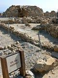 Akvedukt - Qumran Royaltyfria Bilder